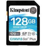 Kingston SDXC Card 128GB Canvas Go! Plus U3 V30 A2