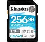 Kingston SDXC Card 256GB Canvas Go! Plus U3 V30 A2
