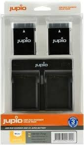 Jupio Kit 2x Battery EN-EL14 1100mAh + USB Dual Charger CNI1003V4