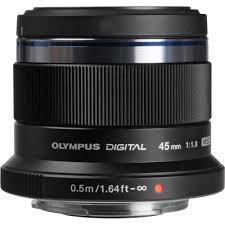 Olympus M.ZUIKO DIGITAL 45mm f1.8 black