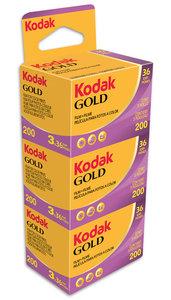 Kodak Gold 200 36 3-pak fotorolletjes
