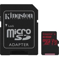 Kingston microSDXC Card 64GB U3 100R 80W 4K Canvas React incl. adapter