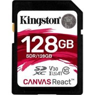Kingston SDXC Card 128GB U3 100R 80W 4K Canvas React